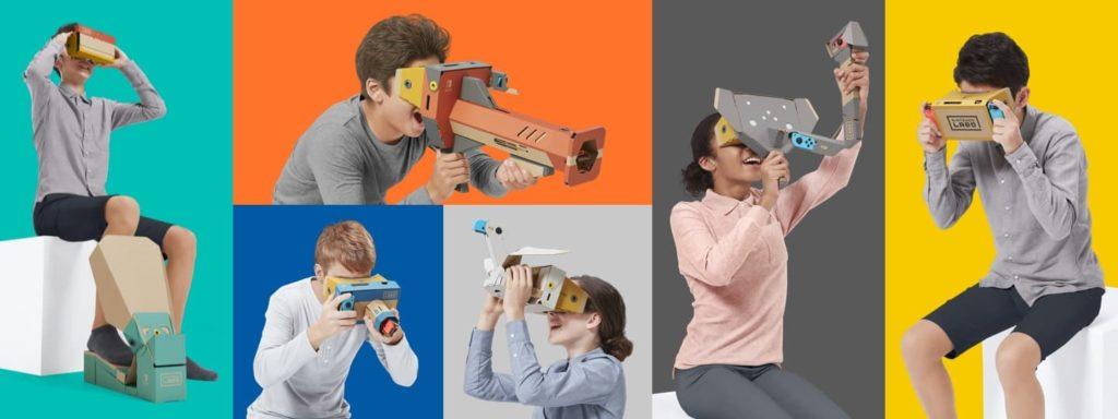 Gameplay du Nintendo Labo Toy-Con 04 : kit VR (réalité virtuelle)